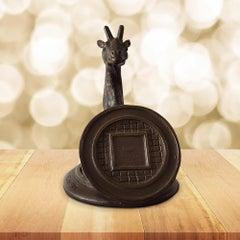 Sculpture - Art - Bronze - Gillie and Marc - Giraffe - Manhole - Come out pocket