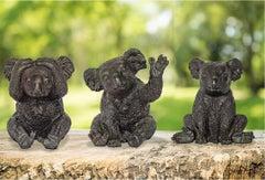 Sculpture - Art - Bronze - Gillie and Marc - Koala - Pocket - Wildlife - Trio