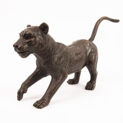 Sculpture - Art - Bronze - Gillie and Marc - Lion - Cub - Love - Play - Small