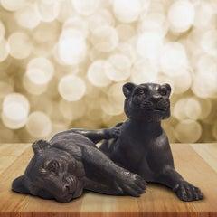 Sculpture - Art - Bronze - Gillie and Marc - Lion - Pair - Friend - Cub - Love
