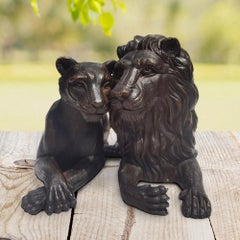 Sculpture - Art - Bronze - Gillie and Marc - Lion - Pair - Love - Lioness - Kiss