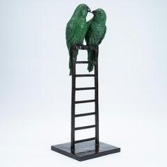 Sculpture - Art - Bronze - Gillie and Marc - Love Birds - Ladder - Wildlife