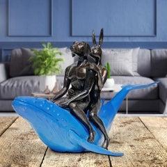 Sculpture - Art - Bronze - Gillie and Marc - Mini - Dog - Rabbit - Whale - Blue