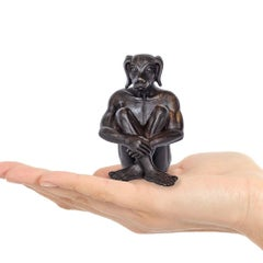 Sculpture - Art - Bronze - Gillie and Marc - Mini - Pocket - Travel - Dogman