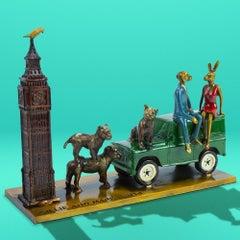 Sculpture - Art - Bronze - Gillie and Marc - Mini - Story - Lion - Rabbit - Dog