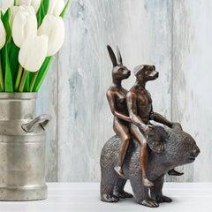 Sculpture - Art - Bronze - Gillie and Marc - Miniature - Dog - Rabbit - Koala