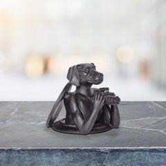 Sculpture - Art - Bronze - Gillie and Marc - Paparazzi - Dog - Manhole Pocket