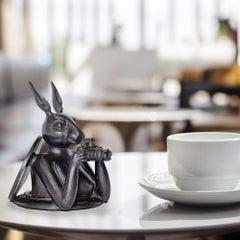 Sculpture - Art - Bronze - Gillie and Marc - Paparazzi - Rabbit - Manhole Pocket