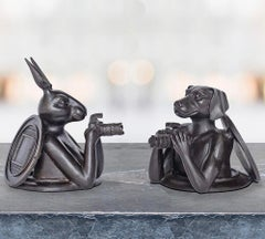 Sculpture - Art - Bronze - Gillie and Marc - Rabbit - Dog - Manhole - Pocket Set