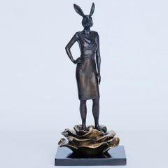 Sculpture - Art - Bronze - Gillie and Marc - Rabbit - Woman - Equality - Flower