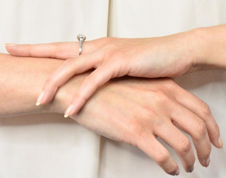 Gillot & Co. 3.21 Carat Old European Diamond Platinum Engagement Ring GIA For Sale 4