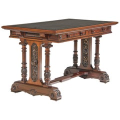 Gillow & Co. Leather Top Mahogany Library Table
