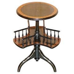Gillow of Lancaster Aesthetic Movement Burr Walnut Amboyna Rotating Book Table