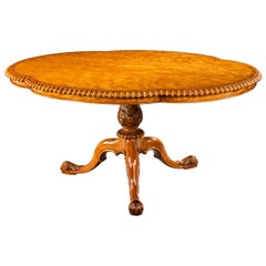 Gillow Satinwood Centre Table
