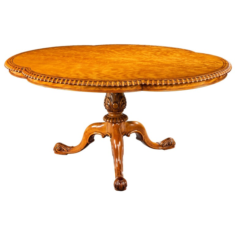 Gillow Satinwood Centre Table For Sale