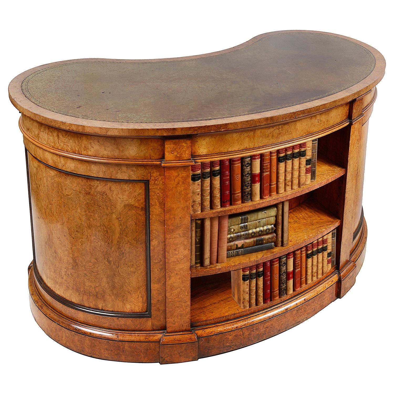 Gillows, 19th Century Walnut Kidney Shaped Desk
