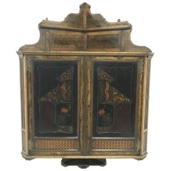 Gillows & Co, Thomas Jeckyll Attr An Anglo-Japanese Marquetry Corner Cupboard