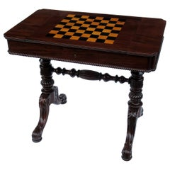 Gillows Goncalo Alves Games Table Backgammon Cribbage Regency, 19th Century