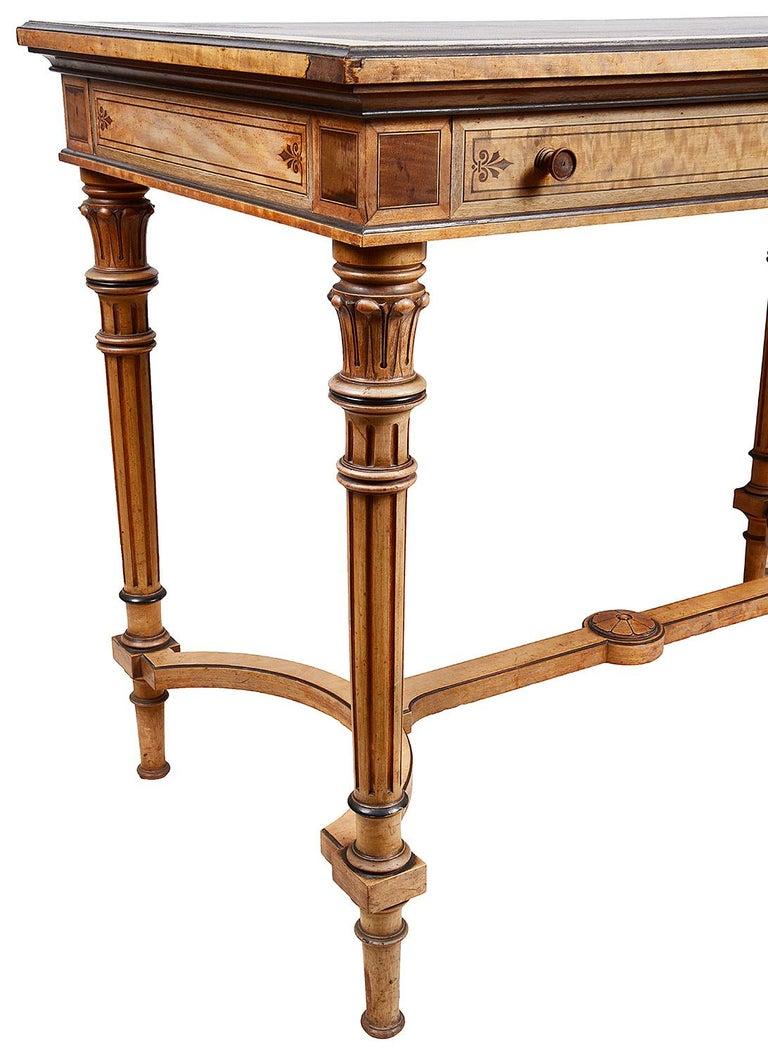 Veneer Gillows Inlaid Writing Table, circa 1860 For Sale