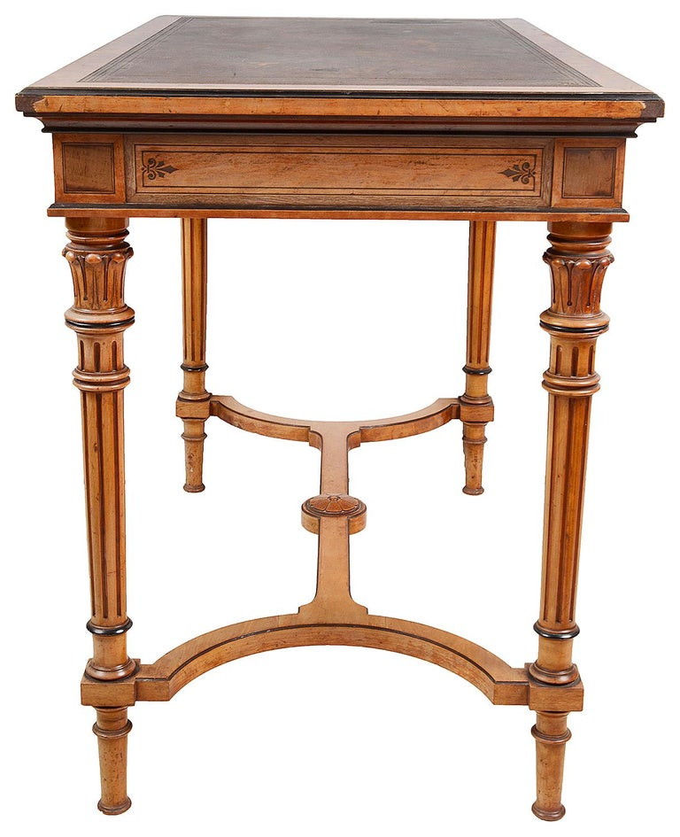 Gillows Inlaid Writing Table, circa 1860 In Good Condition For Sale In Brighton, Sussex