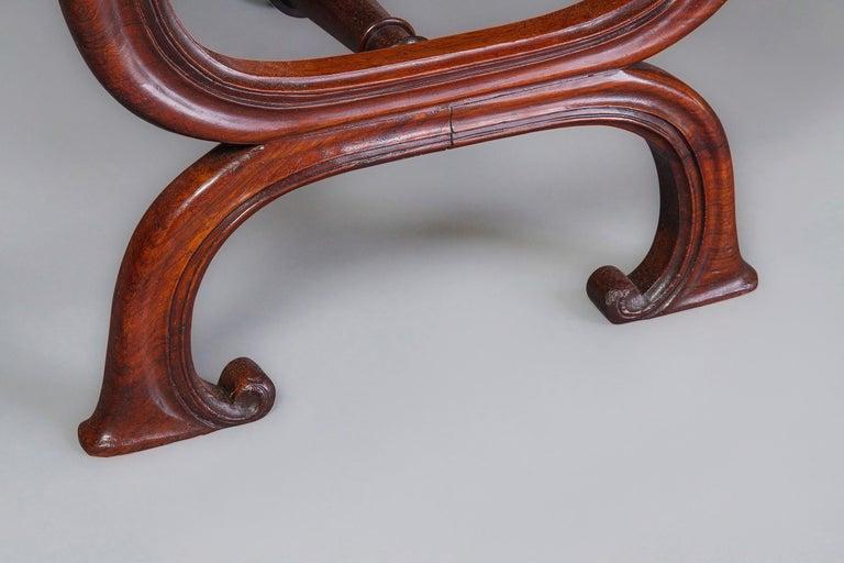 Regency Gillows Interest: A Good George IV X-Frame Stool, circa 1825-1830 For Sale
