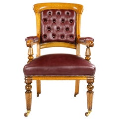 Gillows Oak Town Hall or Ceremonial Chair