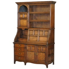 Gillows of Lancaster Victorian Oak Gentleman's Drinks Cabinet Cupboard Work Desk