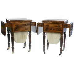 Gillows of London and Lancaster a Matched Pair of Rosewood Worktables