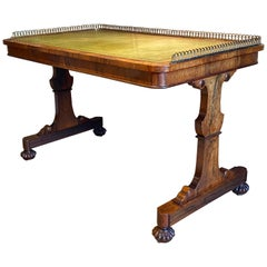 Gillows Regency Period Rosewood Library Writing Table