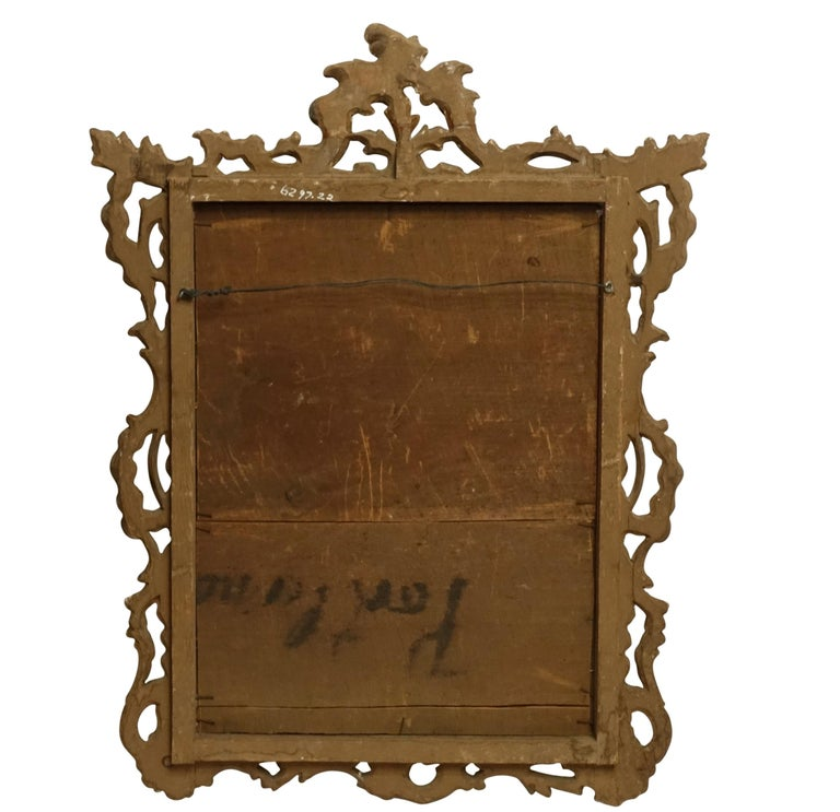 Gilt and Carved Wood Framed Mirror, Italian circa 1800 For Sale 3