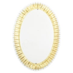 Gilt and Etched Mirror by Crystal Art, circa 1950