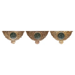 Gilt and Lacquered Friezes for Wall Light Sconces