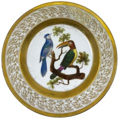 Gilt and Painted Neoclassical French Empire Bird Plate