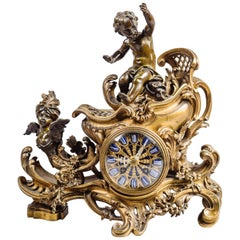 Gilt and Patinated Bronze 'Chariot' Clock by François Linke, French, circa 1900