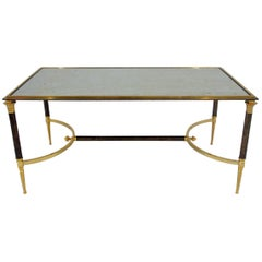 Gilt and Silvered Metal Coffee Table from Maison Jansen