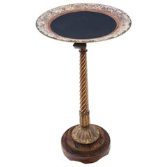 Gilt and Walnut Decorated Wine or Side Table