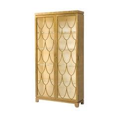Gilt Art Deco Display Cabinet