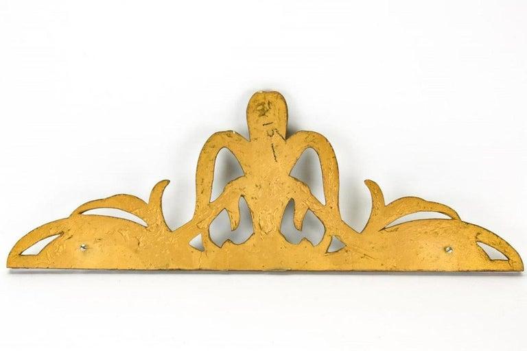 Gilt Art Nouveau Style Cast Wall Plaque Sculpture For Sale 1