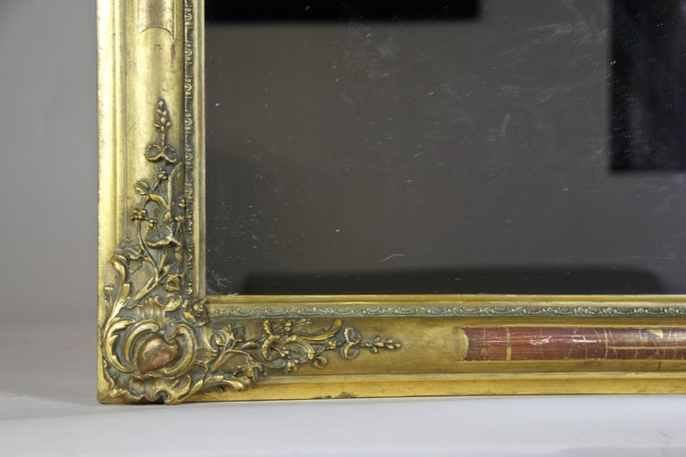 Gilt Biedermeier Mirror, France circa 1820 For Sale 4