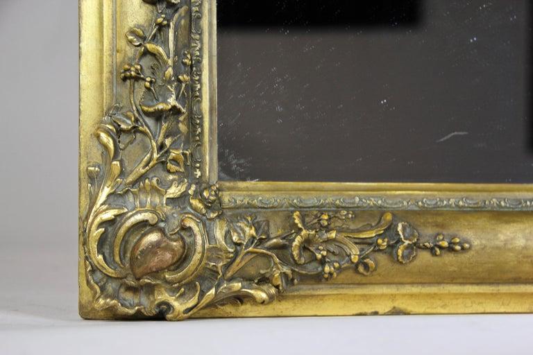 Gilt Biedermeier Mirror, France circa 1820 For Sale 5