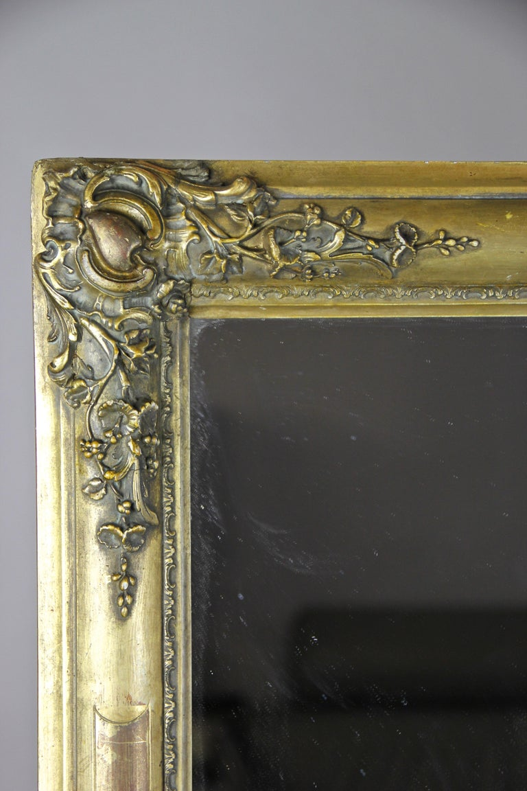 Gilt Biedermeier Mirror, France circa 1820 In Good Condition For Sale In Linz , AT