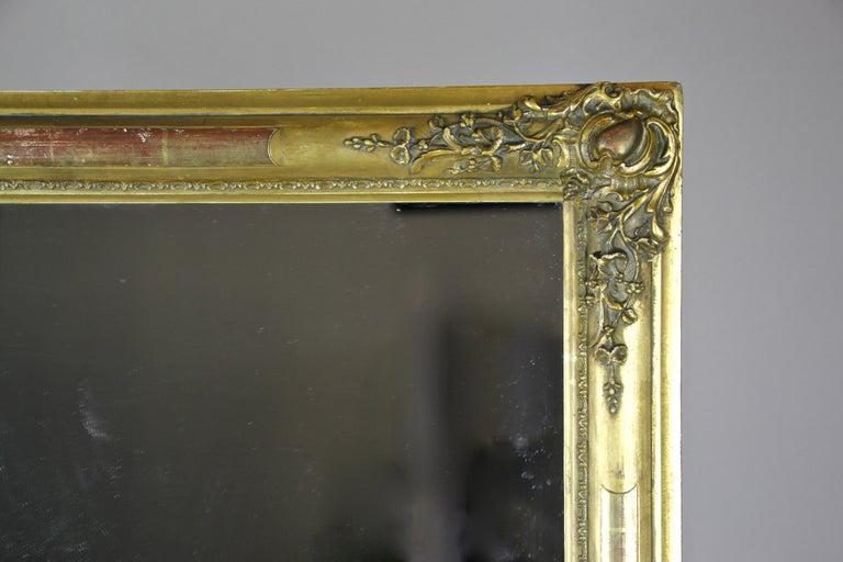 19th Century Gilt Biedermeier Mirror, France circa 1820 For Sale