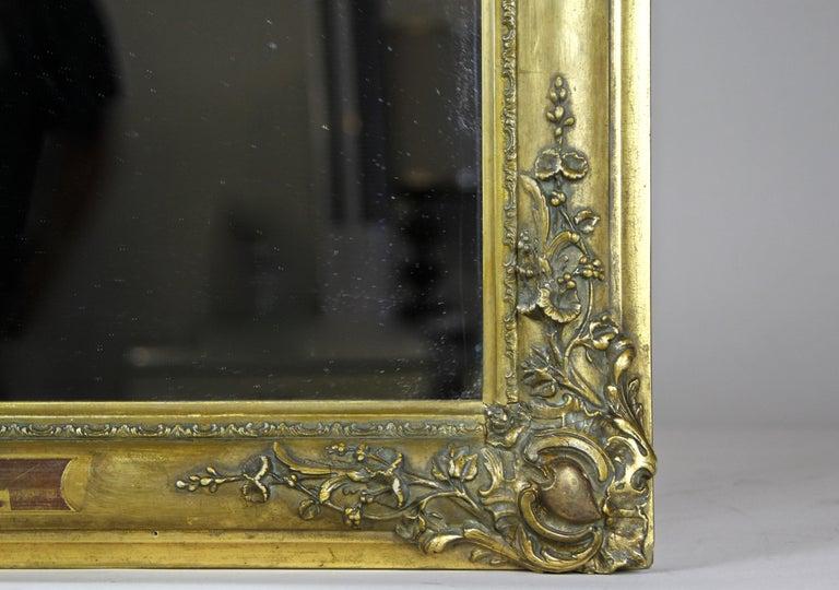 Gilt Biedermeier Mirror, France circa 1820 For Sale 3