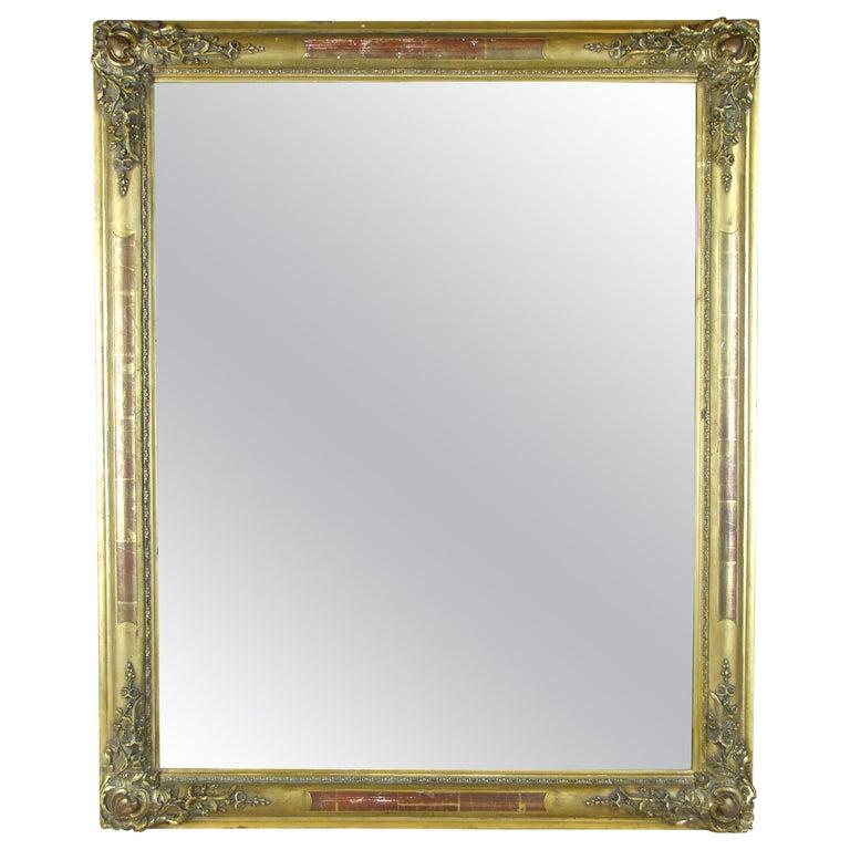 Gilt Biedermeier Mirror, France circa 1820 For Sale