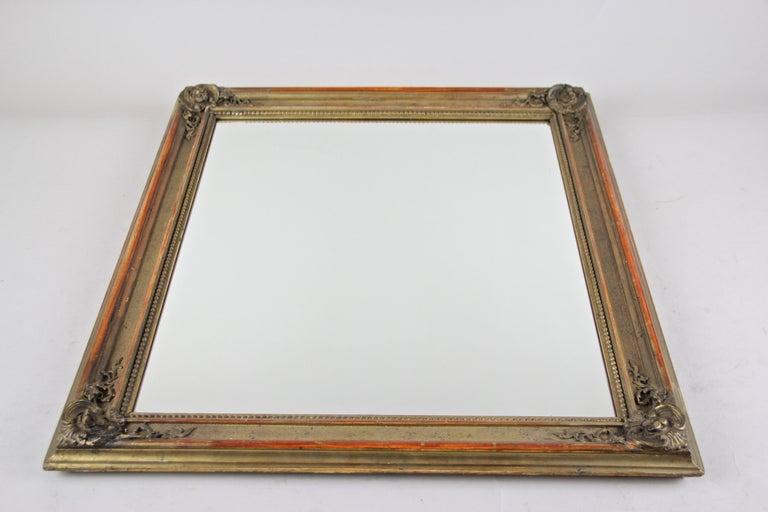 Gilt Biedermeier Wall Mirror, Austria, circa 1850 For Sale 4