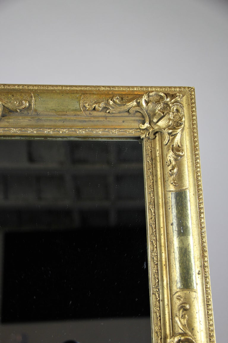 Gilt Biedermeier Wall Mirror, Austria, circa 1850 For Sale 5