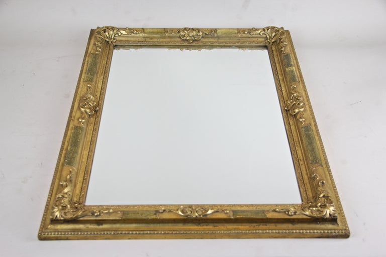 Gilt Biedermeier Wall Mirror, Austria, circa 1850 For Sale 6