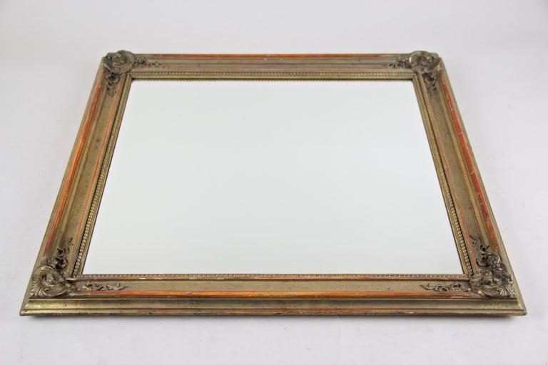 Gilt Biedermeier Wall Mirror, Austria, circa 1850 For Sale 6