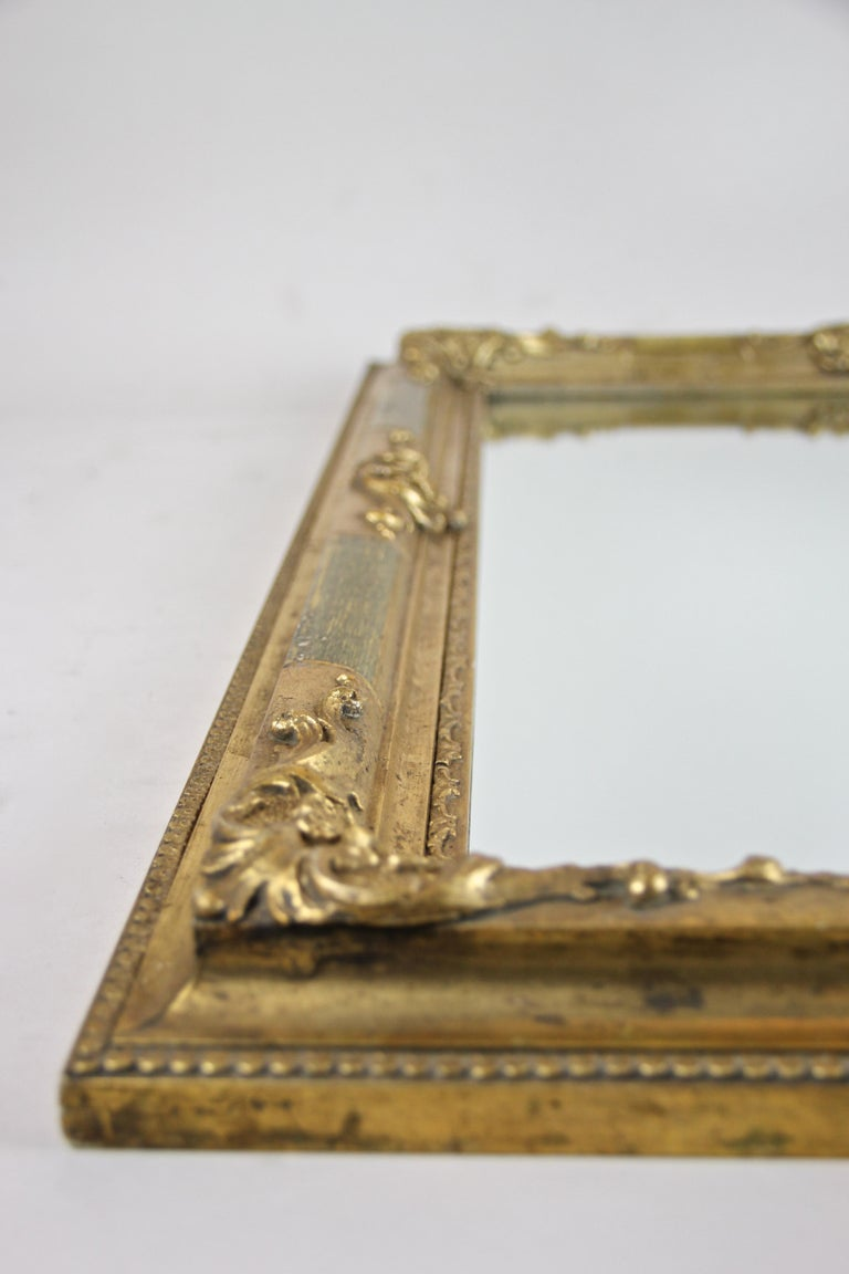 Gilt Biedermeier Wall Mirror, Austria, circa 1850 For Sale 7