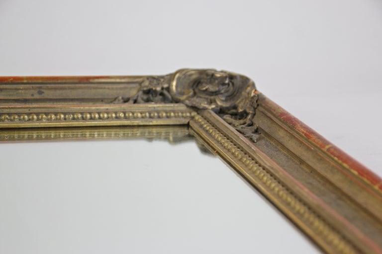 Gilt Biedermeier Wall Mirror, Austria, circa 1850 For Sale 7